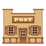 狂放的西部邮局 图库摄影