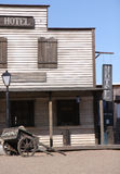 狂放的西部镇 库存图片