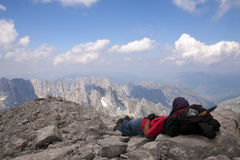 狂放的阿尔巴尼亚阿尔卑斯 免版税库存照片