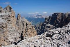 狂放的风景在高山区域 免版税库存照片
