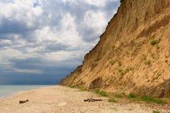 狂放的黑海海滩 免版税图库摄影