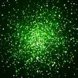 狂放的绿色闪烁爆炸008 免版税库存照片