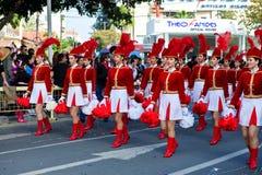狂欢节上色塞浦路斯充分的乐趣 免版税库存照片