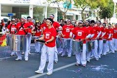 狂欢节上色塞浦路斯充分的乐趣 免版税图库摄影