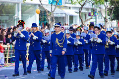 狂欢节上色塞浦路斯充分的乐趣 库存照片