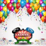 狂欢节和气球 向量例证