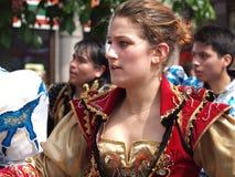 狂欢节哥本哈根参与者 图库摄影