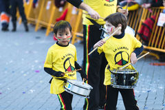 狂欢节在加利西亚(西班牙) 图库摄影
