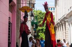 狂欢节在哈瓦那,古巴 库存图片