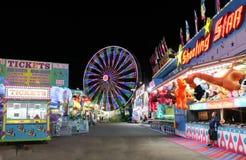 狂欢节在晚上 免版税库存照片
