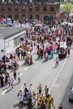 狂欢节在欧洲,丹麦,奥尔堡 库存照片