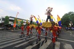 狂欢节城市周年Sragen 库存图片