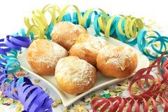 狂欢节多福饼牌照 库存照片