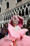 狂欢节夫人被屏蔽的威尼斯 免版税库存图片