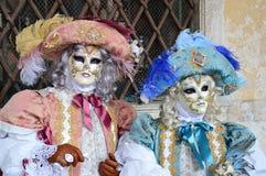 狂欢节夫妇意大利贵族威尼斯 免版税库存图片