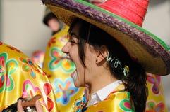 狂欢节妇女 免版税库存图片