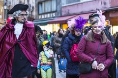 狂欢节威尼斯 免版税图库摄影