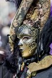 狂欢节屏蔽传统威尼斯式 免版税图库摄影