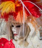狂欢节屏蔽威尼斯 威尼斯狂欢节是在威尼斯举行的一个每年节日,意大利 节日是词著名为它的el 库存图片