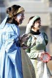 狂欢节屏蔽罗马妇女 库存照片