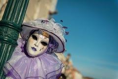 狂欢节面具在威尼斯 库存图片