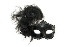 黑狂欢节或化妆舞会面具。 库存图片