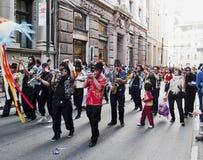 狂欢节打鼓瓦尔帕莱索 免版税库存照片