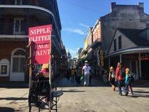 狂欢节新奥尔良2018年保守主义者街 免版税库存图片
