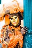 狂欢节服装威尼斯妇女 免版税库存照片