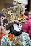 狂欢节服装威尼斯 免版税库存图片