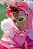 狂欢节服装屏蔽威尼斯 免版税库存图片