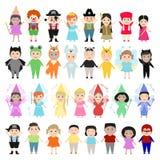 狂欢节服装的,集合孩子 儿童另外国家 皇族释放例证