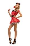 狂欢节服装鼠标形状妇女 免版税库存图片