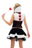 狂欢节服装Domino形状妇女 库存图片