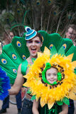 狂欢节游行悉尼2014年 免版税库存图片