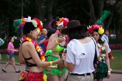 狂欢节游行悉尼2014年 库存图片