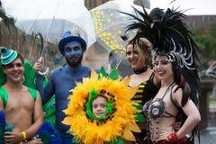 狂欢节游行悉尼2014年 免版税图库摄影