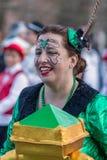 狂欢节的参加者 免版税库存照片