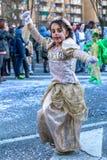 狂欢节的参加者 免版税库存图片