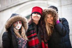 狂欢节的妇女在威尼斯意大利 库存图片