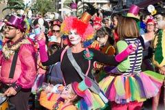 狂欢节的小丑 免版税图库摄影