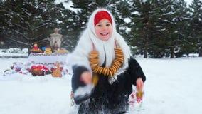 狂欢节的庆祝在俄罗斯 股票录像