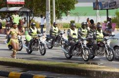 狂欢节的执行者,牙买加 免版税库存图片