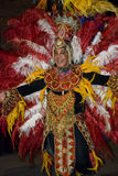 狂欢节舞蹈演员蒙得维的亚 免版税库存照片