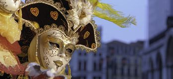 狂欢节节日威尼斯 免版税库存图片