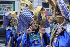 狂欢节街道执行者在马斯特里赫特 库存照片