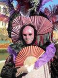 狂欢节装饰著名意大利屏蔽传统venezia威尼斯 免版税库存照片