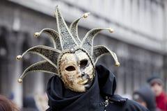 狂欢节装饰著名意大利屏蔽传统venezia威尼斯 免版税库存图片