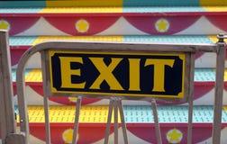 狂欢节退出乘驾符号 免版税图库摄影
