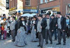 狂欢节队伍在尼韦尔 免版税库存图片